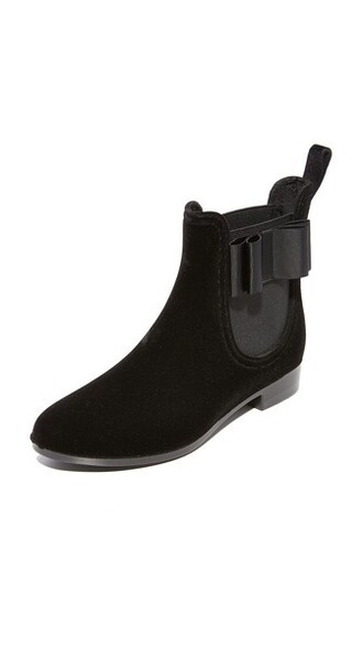 booties velvet black shoes
