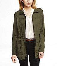 COTTON ANORAK JACKET | Express