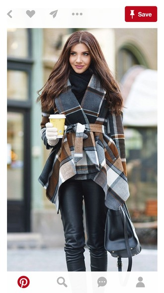 coat plaid winter outfits city outfits fall outfits