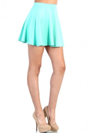 LoveMelrose.com From Harry & Molly | Cute Skater Skirt - Mint