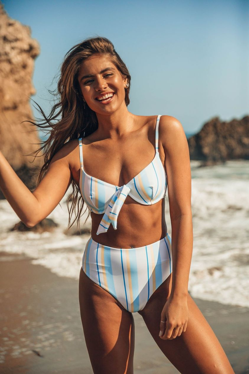 Amalfi Bikini Top - Vintage Stripes