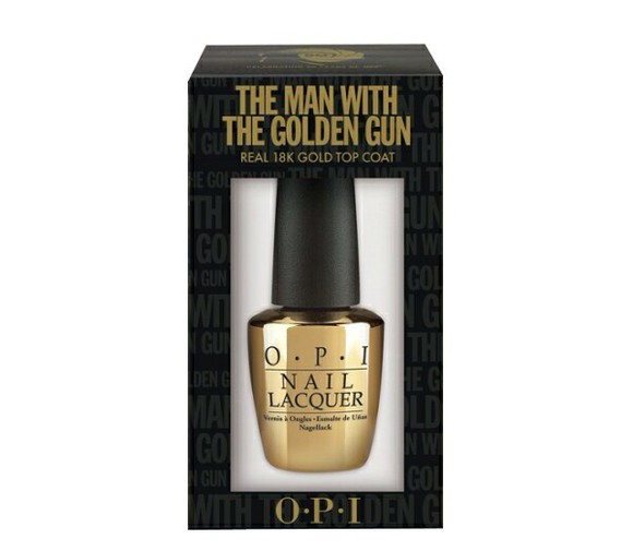 nail polish gold opi