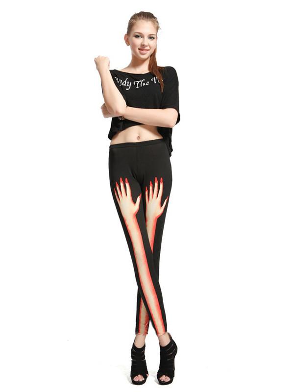 pants black pants sexy hot print 3d