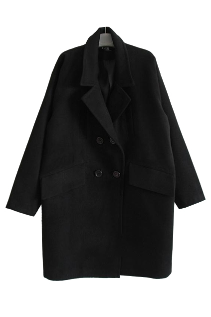 Double Breasted Oversize Women Coat - OASAP.com