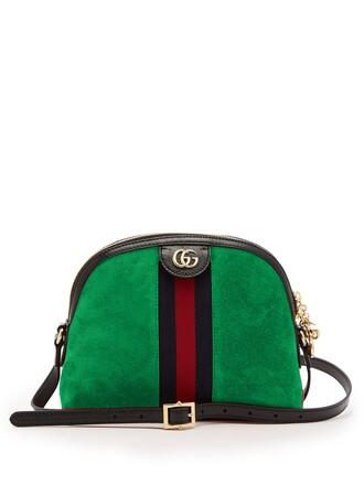 cross bag suede green