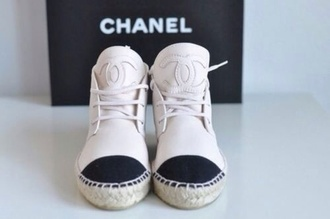 cream shoes chanel chanel sneakers runners karllagerfeld slippers chanel chanel espadrilles chanel shoes