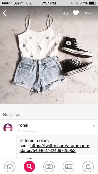 top paper airplane converse shorts