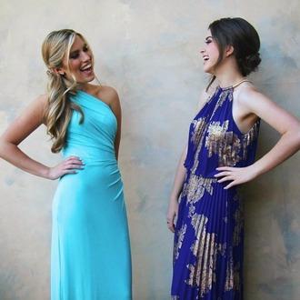 dress lindseyrem gold blue maxi pleated pleated dress pleated maxi maxi dress grecian nordstrom