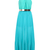Blue Halter Sleeveless Pleated Chiffon Dress - Sheinside.com