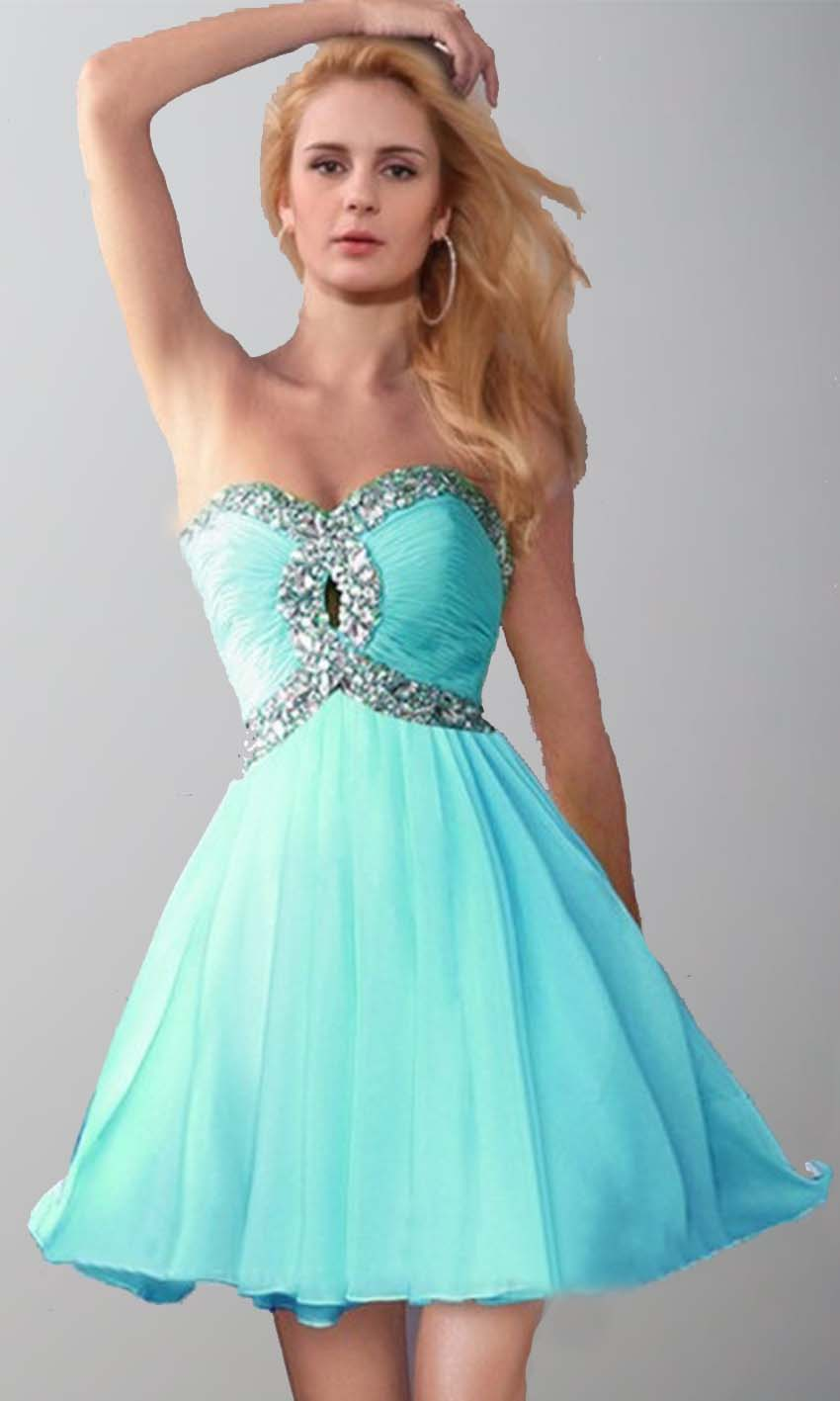 Keyhole Bust Teal Knee Length Sequin Prom Dresses KSP399 [KSP399 ...