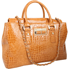 Ivanka trump alexandrite top handle satchel camel pebble