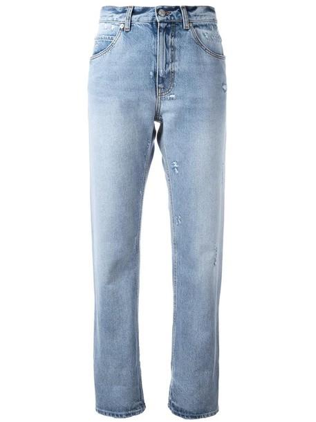 Alexander Mcqueen jeans boyfriend jeans women boyfriend cotton blue
