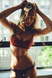 swimwear,red,top,alexis ren,bottom,bikini