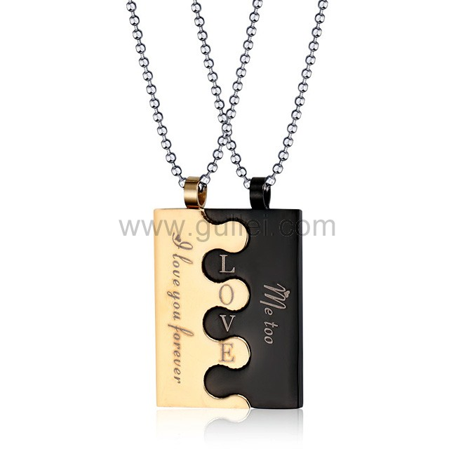 5c4aa600c4 Personalized Interlocking Necklaces Best Gifts for Couples Personalized  Couples Gifts   His Her Necklaces and Bracelets ...