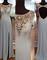 Charming sequins rhinestones round neck long prom dresses, evening dresses