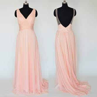 dress prom prom dress blush pink liht light coral coral dress peach peach dress lovely love pretty sweet chic backless backless dress v neck v neck dress maxi maxi dress long long dress special occasion dress floor length dress trendy fashion girl girly event evening dress long evening dress long prom dress fabulous gorgeous beautiful style stylish fashionista sexy sexy dress cute cute dress fashion vibe bridesmaid