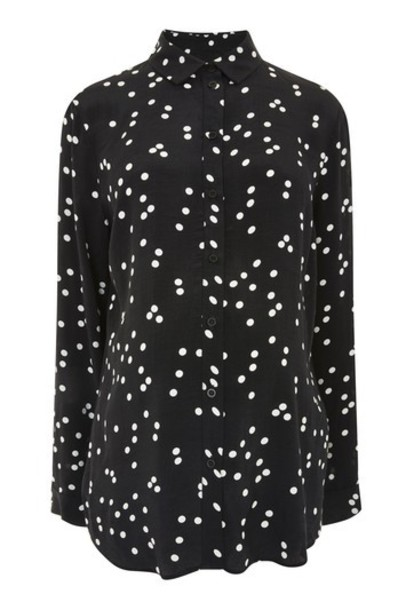 Topshop shirt print black top