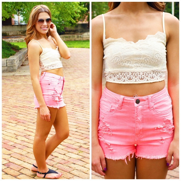 Lace Bustier Crop Top | uoionline.com: Women's Clothing Boutique