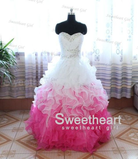 Sweetheart Girl | Custom Made Ball Gown Sweetheart flounced Prom Dress, Graduation Dress | Online Store Powered by Storenvy