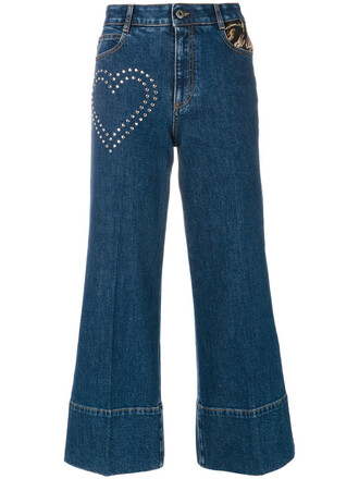 jeans flare jeans flare cropped metallic women cotton blue