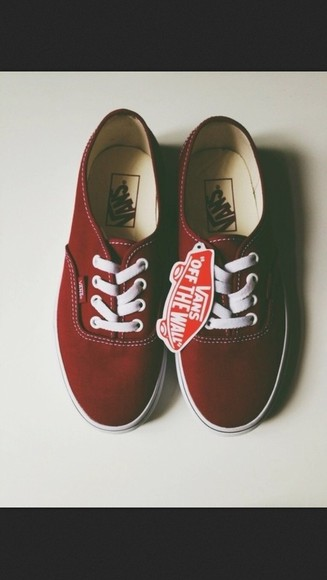 shoes vans vans sneakers deep red red vans off the wall vans shoes