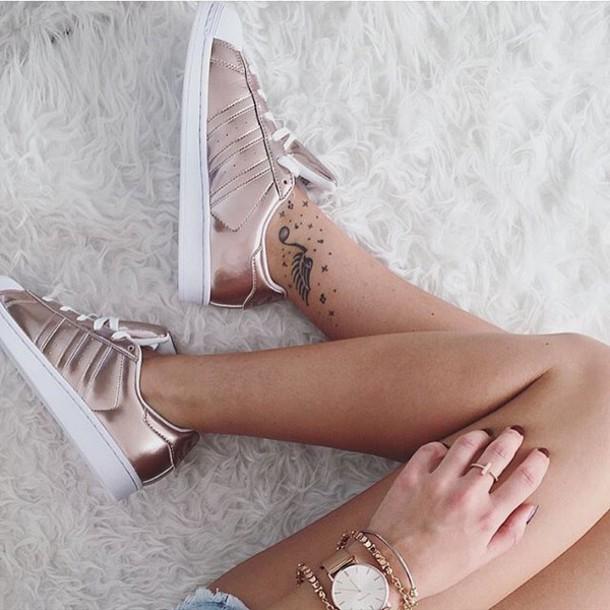 adidas superstar femme rose gold