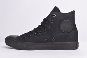 Converse CT ALL Star HI High TOP Black Mono Canvas Trainers Unisex BNWB | eBay