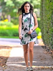 bag,emmy rossum,dress,shoes