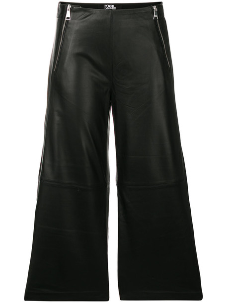 karl lagerfeld culottes leather culottes women leather black pants