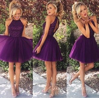 dress homecoming dress party dress purple dress