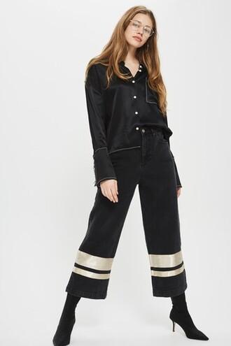 jeans cropped black