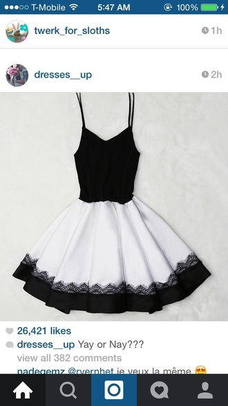 dress black dress white dress black and white dress style fashion pretty cute dress sexy dress graduation dress black top white skirt