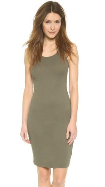 Splendid 2X1 Racer Back Dress - Army Green