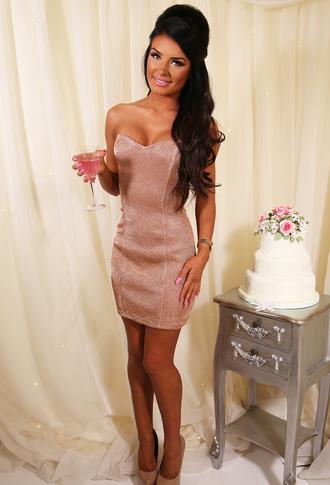 dress pink boutique rose gold mini dress sweatheart neckline special occasion dress