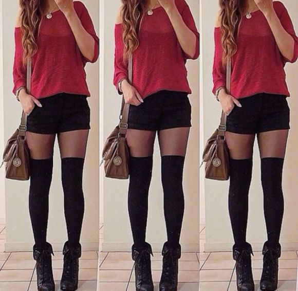 sweater burgundy sweater maroon shorts underwear shoes shirt