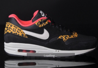 nike black shoes air max leopard print
