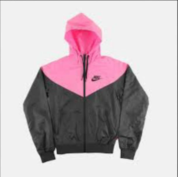 jacket nike wind runner jacket pink black nike jacket