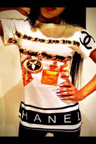 shirt chanel chanel shirt oversized t-shirt
