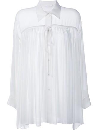 shirt long sleeve shirt long white top