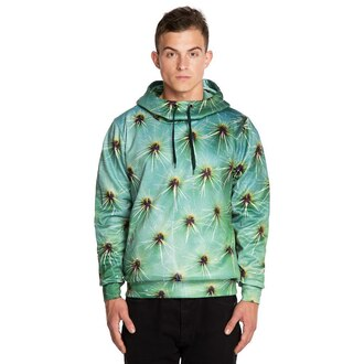 sweater hoodie printed hoodie cactus cactus print hooded sweater mens hoodie menswear all over print hoodie full print hoodie