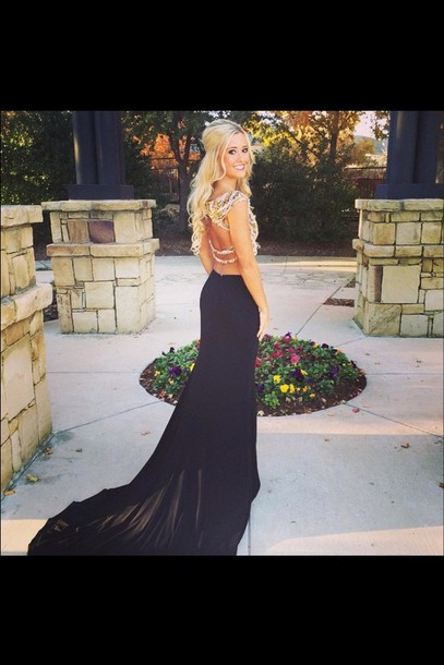 dress black prom black dress black prom dress prom dress mermaid prom dress 2015 prom dress evening dress mermaid evening gown two piece prom dresses crop top prom dress prom gown long dress long prom dress style pretty cute dress cute backless backless dress backless prom dress