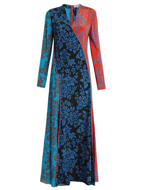 Diane Von Furstenberg dress silk dress print silk