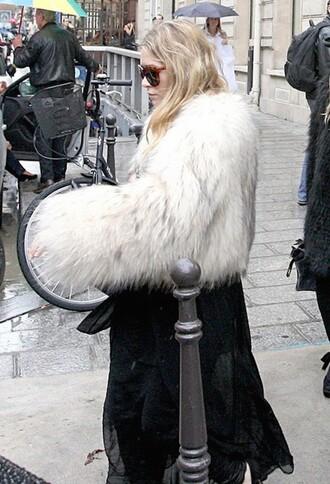 fur coat ashley olsen coat