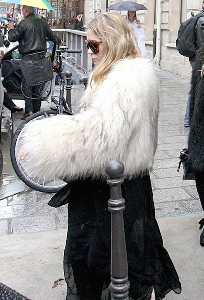fur coat ashley olsen coat