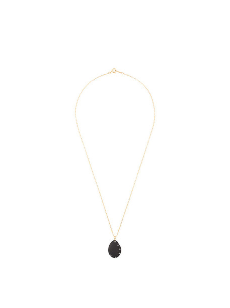 Cvc Stones women necklace pendant gold black yellow jewels