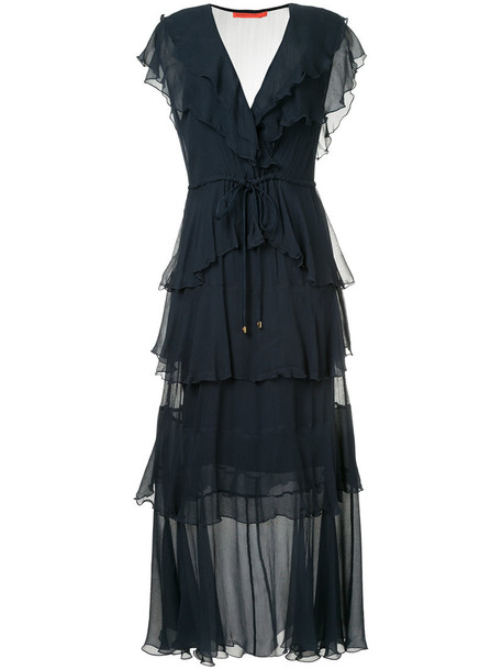 dress maxi dress maxi women gypsy blue silk