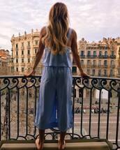 pajamas,cropped pajamas,blue pajamas,pajama top,blonde hair,tumblr,stripes,striped pajamas,pajama pants,long hair,hair