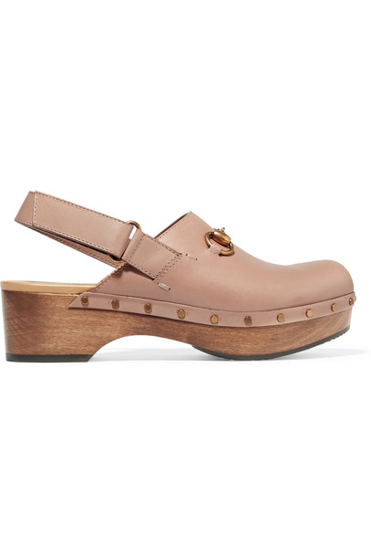 clogs leather blush shoes