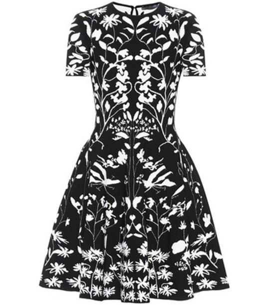 Alexander Mcqueen dress jacquard black