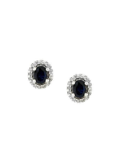 Wouters & Hendrix Gold women earrings stud earrings gold blue jewels